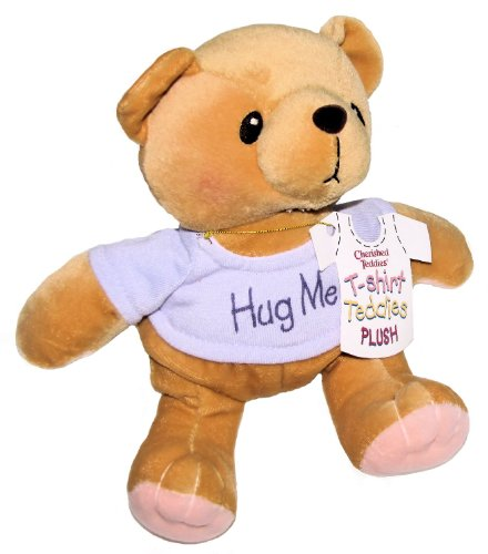 Cherished Teddies Hug Me Purple T-shirt Plush Teddy Bear By Artist Priscilla Hillman # 505382 - 8 Inches (Giraffe Newborn Teddy Bears)