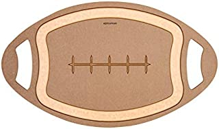 product image for Epicurean Football 12 in. W x 20 in. L Natural Nutmeg Richlite Paper Composite Cutting Board - Case of: 4