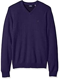 Men's Premium Essentials Fine Gauge Solid V-Neck Sweater