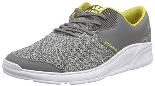 Mixte Sneakers Adulte Wht Supra Charcoal Basses Grey Noiz Gch Gris Heather HBx5Itq