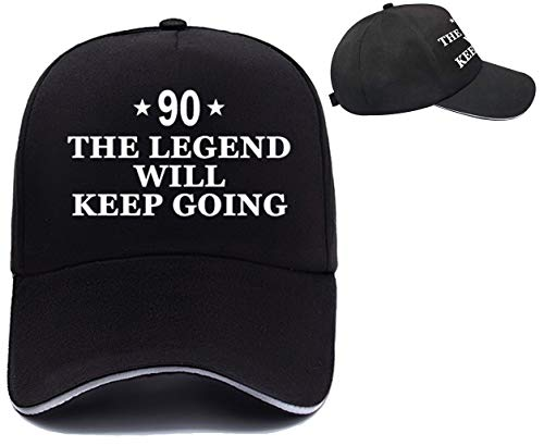 Funny 90th Birthday Party Supplies, Unique Baseball Hat for 90th Birthday