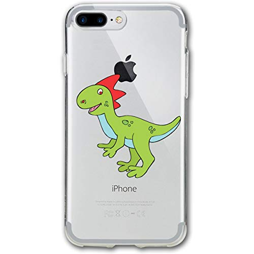 Halloween Cute Dinosaur Clipart iPhone 8 Plus Case, iPhone 7 Plus Case, Ultra Thin Lightweight Cover Shell, Anti Scratch Durable, Shock Absorb Bumper Environmental Protection Case Cover -