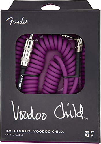 - Fender Hendrix Voodoo Child Electric Guitar Coil Cable, Purple