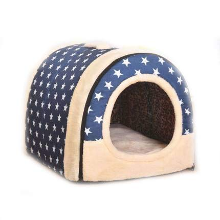 C M C M HU Pet Nest Flannel Portable Multi-size Removable And Comfortable Nest For Small And Medium Dogs (color   C, Size   M)