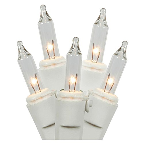 Gerson 60177 - 35 Light White Wire Clear Miniature Christmas Light String Set with 3