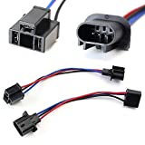 iJDMTOY (2) H13 9008 To H4 9003 Pigtail Wire Wiring Harness Adapters Compatible With H13/H4 Headlight Conversion Retrofit