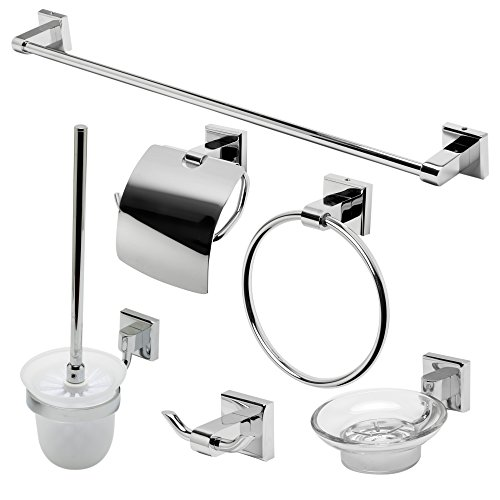 ALFI brand AB9509-PC Matching Bathroom Accessory Set (6 Piece), Polished Chrome by Alfi