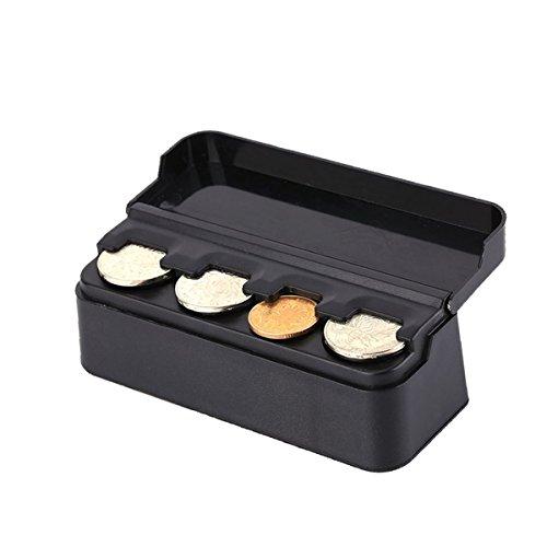 Custom Autos Car Coin Organizer Case Mini Storage Box - Black (Holder Coin Auto)