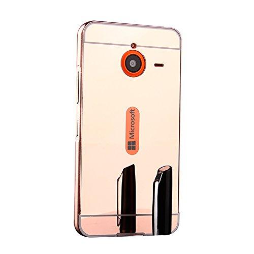 Luxe Housse Couverture Couche Huphant premium Aluminium 640xl Plastique En Or Coque Pc Choc Miroir 2 Microsoft Lumia Et Rose 1 640xl Etui Double Electroplate Anti Métal RSwxZRvrqz