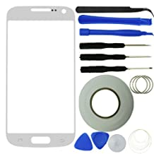 Eco-Fused Screen Replacement Kit for Samsung Galaxy S4 Mini including Replacement Glass / Tool Kit / Adhesive Sticker Tape / Tweezers / Microfiber Cleaning Cloth / Instruction Manual (White)