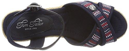 Con Caviglia Alla Tom Blu Tailor 4890910 Cinturino Donna Sandali navy tfqwRHq