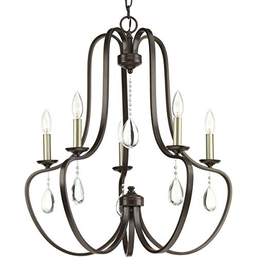 Progress Lighting P400087-020 Anjoux Five-Light Chandelier, Antique Bronze