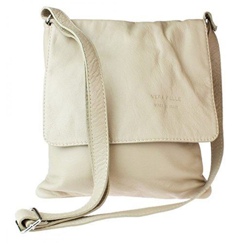 Beige Company Bag Vera Italian Bag Green Womens Italian Body Medium Pelle Medium leather soft Cross Genuine wZqdfd5F