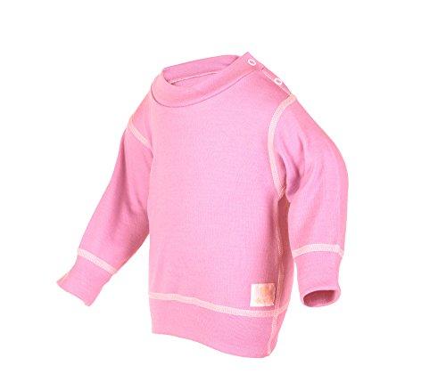 - Janus 100% Merino Wool Baby Sweater Machine Washable Made in Norway (6-9 Months, Pink)