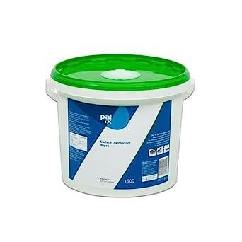 Pal TX superficie desinfectante sin alcohol toallitas limpiadoras - cubo de toallitas: Amazon.es: Amazon.es