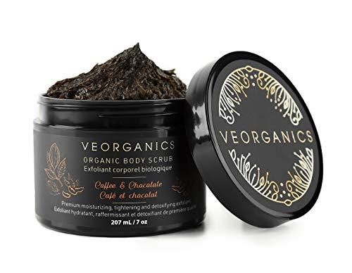 - Organic Coffee & Chocolate Body Scrub by VeOrganics - Premium Moisturizing, Tightening and Detoxifying Exfoliant