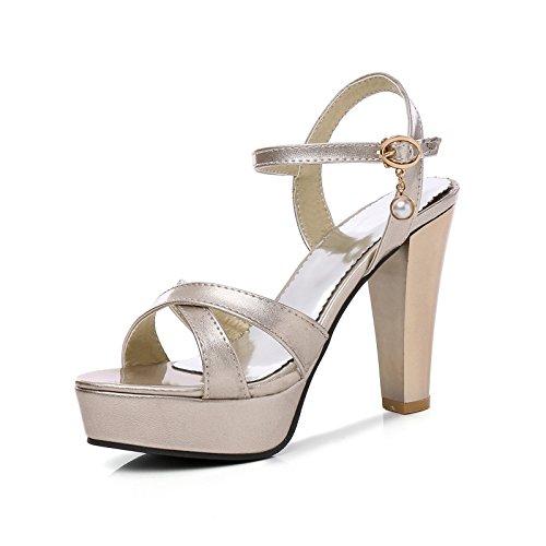 impermeabile sandali i 40 golden signore sandali i sexy heeled tavoli high sandali ai spesso sandali dE6q68w
