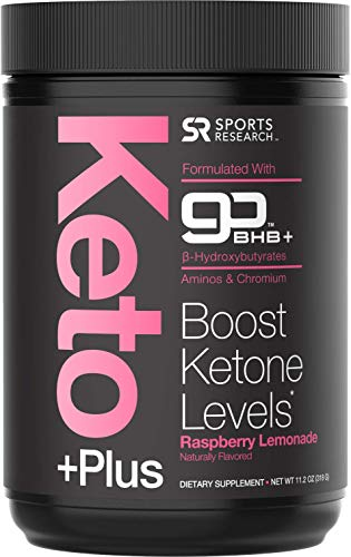 Keto Plus™ Exogenous Ketones (goBHB™) - 30 Servings | Formulated for Ketosis, Energy and Focus | Keto Certified, Vegan Friendly (Raspberry Lemonade)