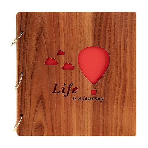 - ChezMax DIY Photo Album Wood Cover Anniversary Scrapbook 10
