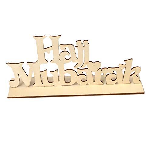 TIANMI Wooden Eid Wooden Sign Word Plaque Wall