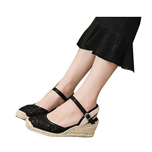 Sandali Con Zeppa Espadrillas Sandali Con Cinturino Alla Caviglia Da Donna