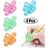 Pencil Grips - BUSHIBU Children Pen Writing Aid Grip Set Posture Correction Tool for Kids Preschoolers Children,Hollow Ventilation (4PCS)