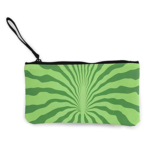 Wristlet Clutch Wallet Artistic Floral Plants Graphics Canvas Coin Purse Handbag