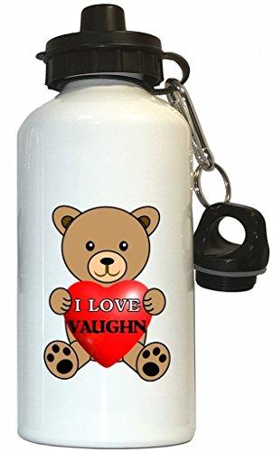 I Love Vaughn Water Bottle White