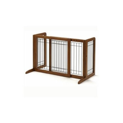 41meJDJu2yL - Richell Wood Freestanding Pet Gate