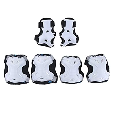 Injoyo Kids Safety Knee & Elbow Pad Set for Cycling Skate Bike Protector 6-10 Years - White : Sports & Outdoors