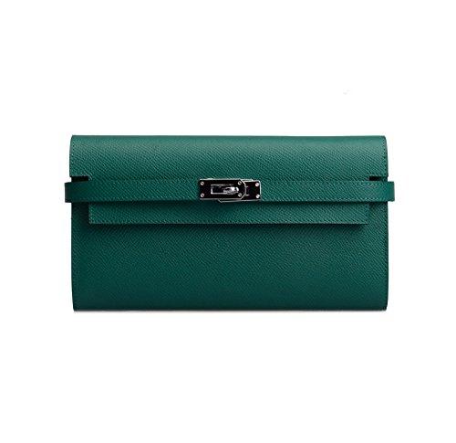 anifeel-womens-padlock-genuine-leather-wallets-purse-billfold-green
