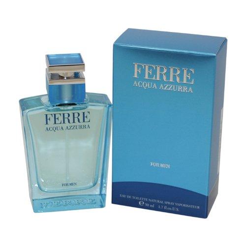 Gianfranco Ferre Acqua Azzurra Eau De Toilette Spray for Men, 1.7 Ounce