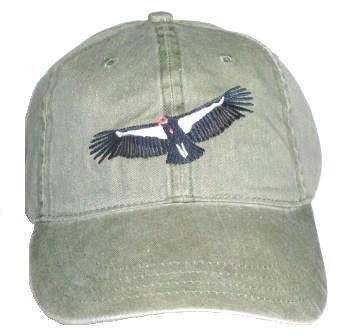 California Condor Bird - California Condor Embroidered Cotton Cap