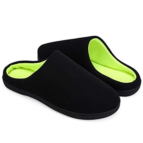 Zapatilla Pareja Interior Calienta Zapatos Para Caliente El Slippers Negroa Casa De Hogar Invierno Zodof Suave Dormitorio Cerradas Antideslizantes Algodón Hombres Estar SUwvTxxP