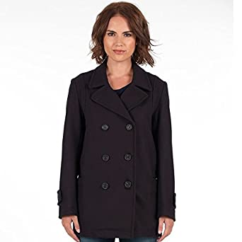 e5e10dc92 Gloverall Womens Reefer Coat Navy (Size 32 UK 10 Bust 38