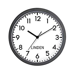 CafePress Linden Newsroom Unique Decorative 10 Wall Clock