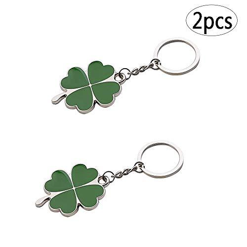 - BinaryABC Shamrock Keychain Keyring Charm Pendants,Fortune Keychain,St.Patrick Day Gift,2Pcs