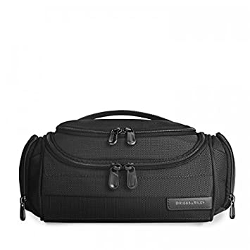 Briggs & Riley 114-Black-4.5x11.5x5.5 Executive Toiletry Kit