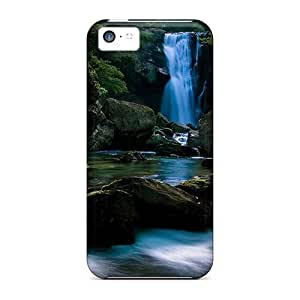 MMZ DIY PHONE CASEQEtmoay522PXUPF Case Cover Landscape Waterfall Nature ipod touch 4 Protective Case