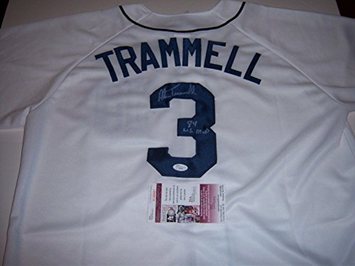Uniform Champ (Alan Trammell Signed Uniform - 84 Ws Champs coa - JSA Certified - Autographed MLB Jerseys)