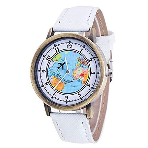 Reloj para Mujer con Reloj, Relojes exclusivos de Moda de Cuarzo para Mujer Relojes de Pulsera Casuales para Mujeres, Estuche Redondo con Esfera, ...