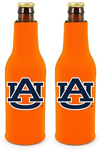 Tigers Bottle Suit (NCAA College 2014 Team Logo Color Bottle Suit Holder Holder Koozie Cooler 2-Pack (Auburn Tigers))