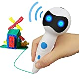 3D Printing Pen New 2018 Patent Intelligent Voice prompts Including Storage Battery Low Temperature Hand Painting Safe PCL Filament 1.75mm for Outdoor Teaching Doodling Stereoscopic Drawing (White)