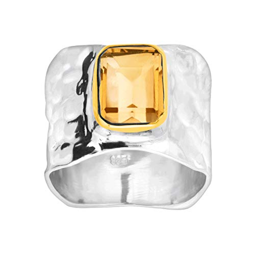 Silpada Lakeside Gemstone Ring in Sterling Silver Gold Plate