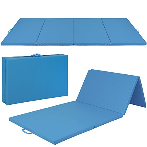 "4' x 8' x 2"" PU Leather Gymnastics Tumbling / Martial Arts Folding Mat"