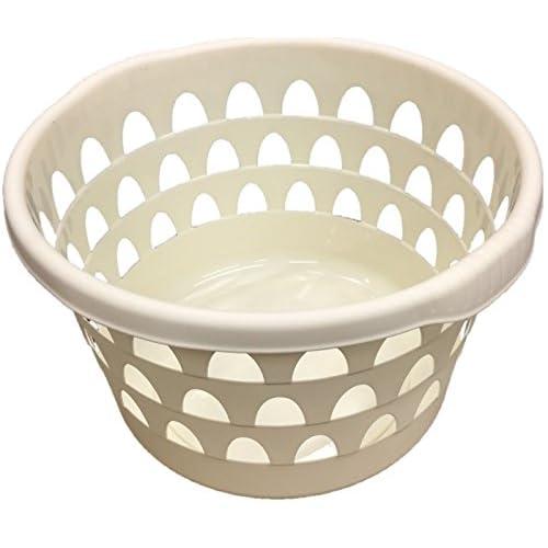 Round Panier à linge Panier à linge Panier à linge avec poignées texturé