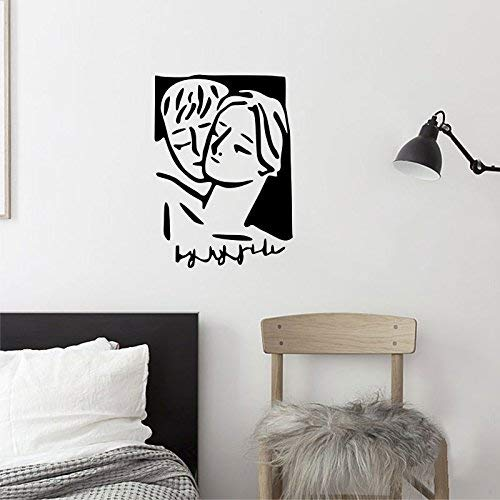 Yingealy Decorate Your Home Embrace The Creative Arts Wall-Cafe Bedroom Photo Background Abstract Pattern Warm Cure, Black, Extra-Large (Color : Small, Size : Dumb Blond)