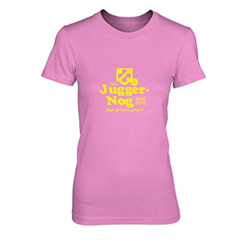 Juggernog - Damen T-Shirt, Größe: M, Farbe: pink