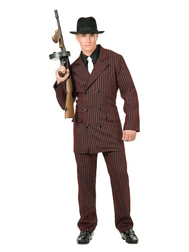 40's Mobster Costumes (Gangster Adult Costume - Medium)