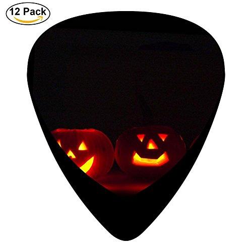 (Guitar Picks Celluloid Pumpkin Smilies 12 Pack Shape For Acoustic Guitar Mandolin Electric Guitar And)